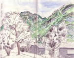 Vercors - Feutre et aquarelle - Août 2013