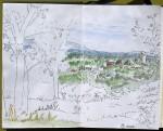 Panorama - Feutre et aquarelle - Août 2013