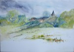 Village - Aquarelle - Août 2013