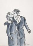 Un baiser - Feutre et aquarelle - Novembre 2013
