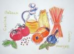 Cuisine italienne - Feutres et crayon rouge - Février 2014