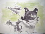 Animal célèbre - Feutre et aquarelle - Mars 2014