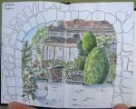 Drôme - Feutre et aquarelle - Juin2014
