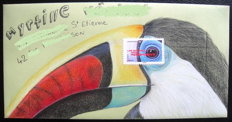 Toucan - Crayons de couleur - Avril 2016