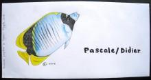 Poisson papillon àlignes - Crayons de couleurs - Octobre 2016