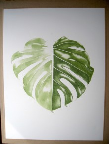 Monstera - Aquarelle - Mars 2017