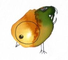 Oiseau rigolo - Encre - Juin 2017