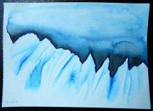 Glacier - Feutres aquarellables - Juillet 2017