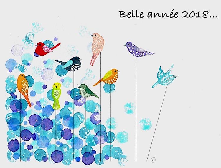 Voeux 2018 - Aquarelle