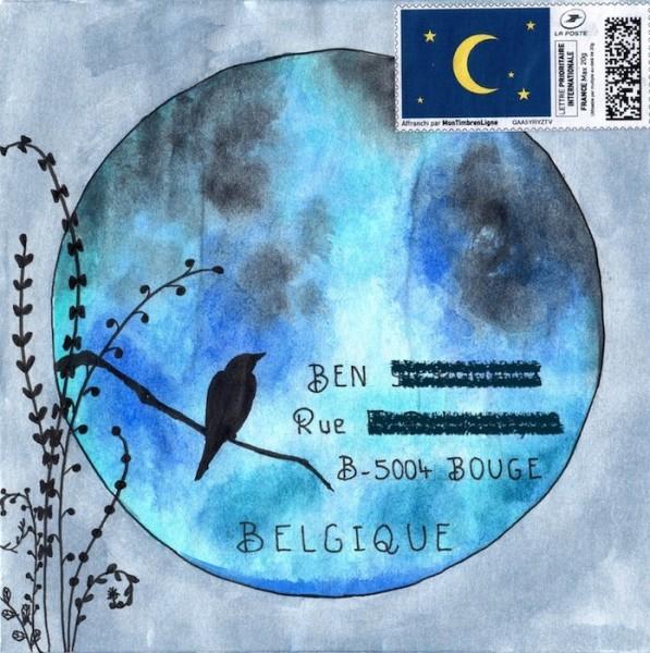 Lune - Aquarelle et feutre - Mai2019