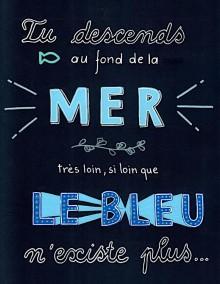 Bleu - Lettering - Juillet 2020