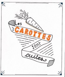 Carottes blanches - Lettering - Juillet 2020